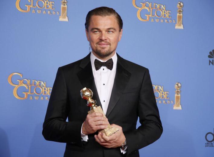 فاز النجم ليوناردو دي كابريو بجائزة أفضل ممثل في فيلم موسيقي أو كوميدي عن دوره في  The Wolf of Wall Street