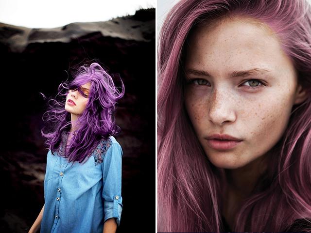 درجات البنفسجي ، موضة صبغات الشعر لصيف 2014 ! (9)