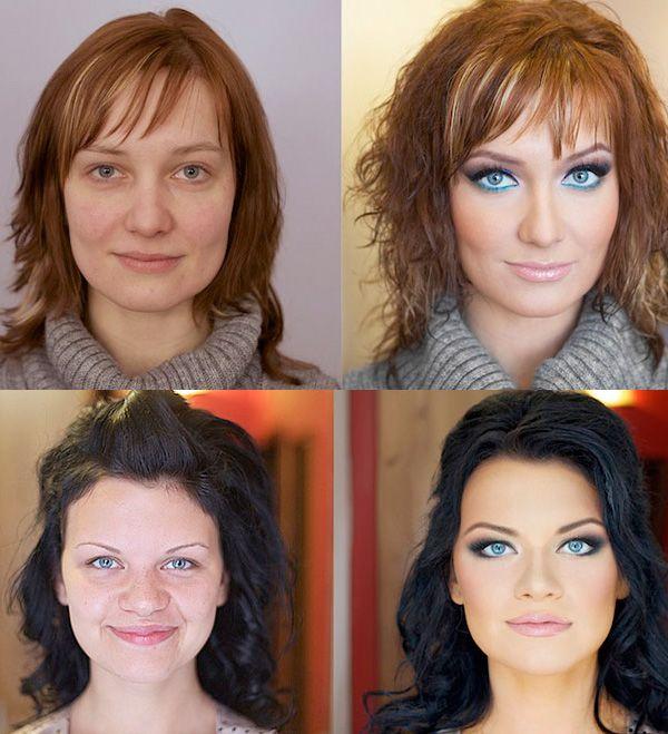 المكياج يصنع المعجزات ! 20 صورة لنساء قبل و بعد المكياج (16)