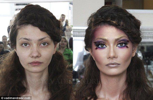 المكياج يصنع المعجزات ! 20 صورة لنساء قبل و بعد المكياج (19)
