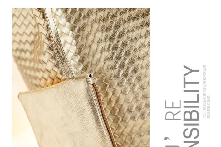حقيبة الرفاهية بدمج من الفضي و الذهبي سوياً ! (4)