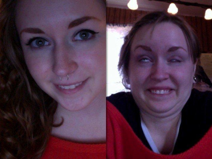 جنون النساء يدفعهن الى نشر صور مخيفة لأنفسهن ! (2)