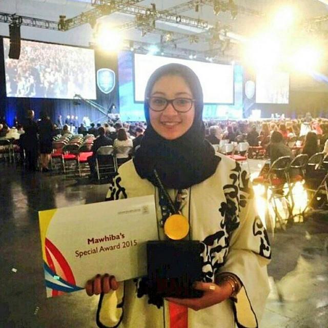 اريا الكردي تفوز بجائزة خاصة في معرض انتل ايسف عن مشروع استخدام البكتيريا لإنتاج الكهرباء والماء