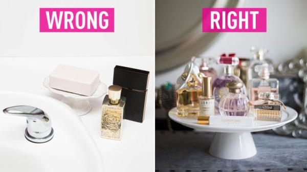 لتحافظي على صلاحية الروائح لا تحتفظي بها في الحمام او الأماكن الدافئة او الرطبة