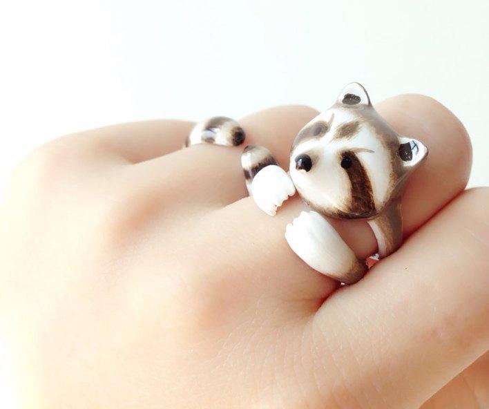 خاتم مكون من ثلاث قطع