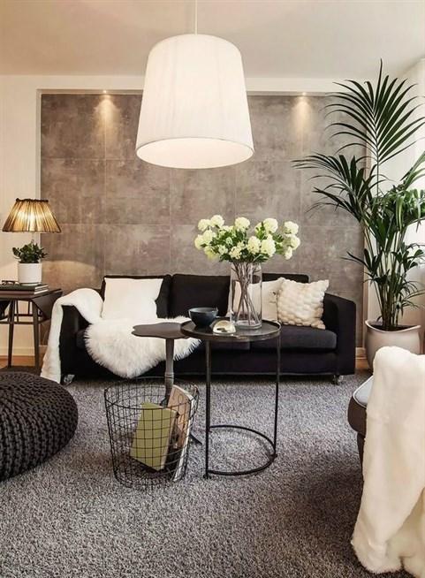 غرفة المعيشة وأجمل التصاميم مع المساحات الصغيرة وقطع الأثاث الأنيقة