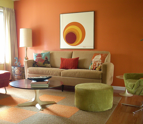 اللون البرتقالي للديكور