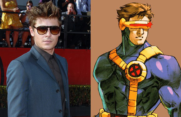 Zac Efron - Cyclops in  X-Men