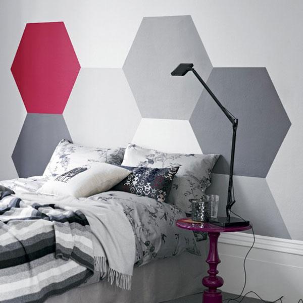 افكار لديكورات جدار السرير