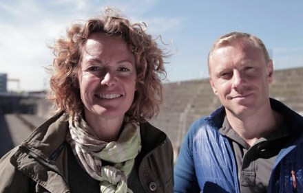 Kate Humble and Andy Torbet in Titanic's Tragic Twin: The Britannic Disaster