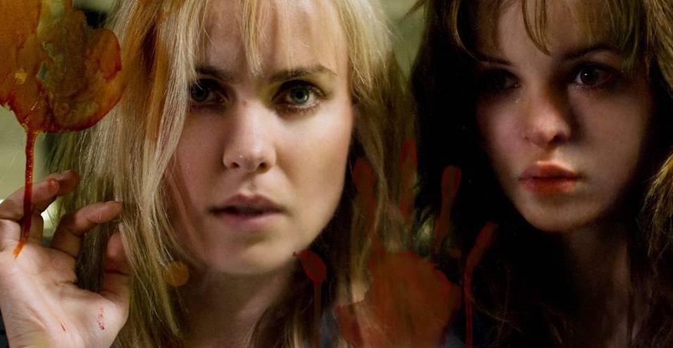 Radha Mitchell and Danielle Panabaker in The Crazies (2010)
