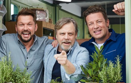 Jimmy Doherty, Mark Hamill and Jamie Oliver.