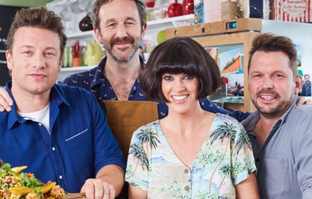 Jamie and Jimmy with Chris O'Dowd and Dawn O'Porter