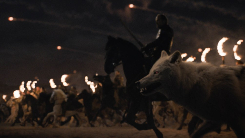 Dothraki charge the army of the dead