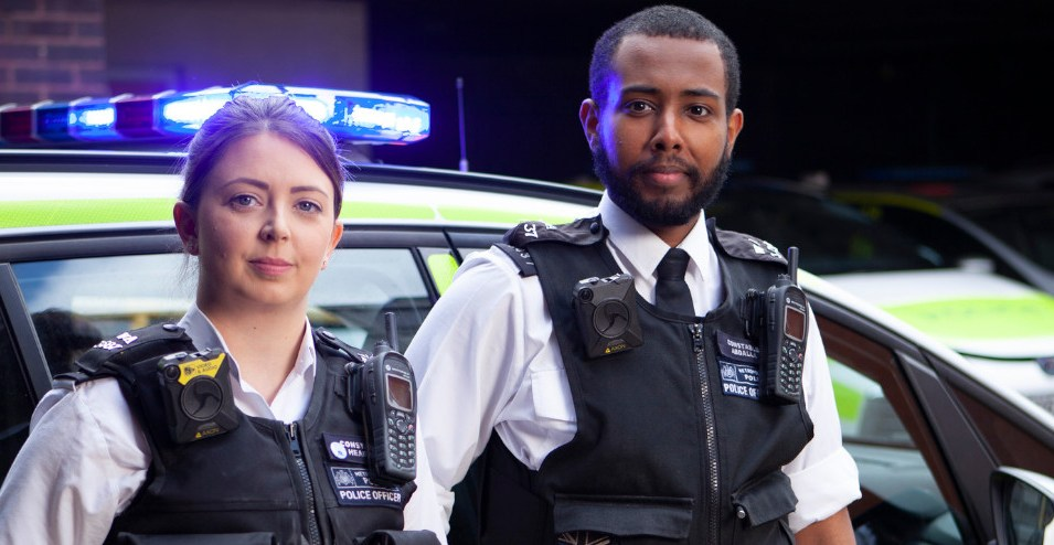 PC Naomi Pearce, PC Mahad Abdalla. Photo Steve Brown