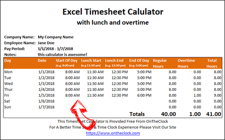 free timesheet calculator excel - April.onthemarch.co