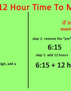 hour standard to military time conversion also convert and vice verse ontheclock rh