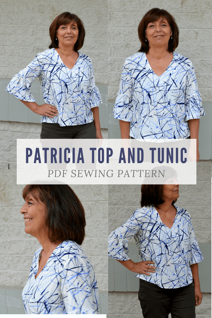 The Patricia Top and Tunic PDF sewing pattern