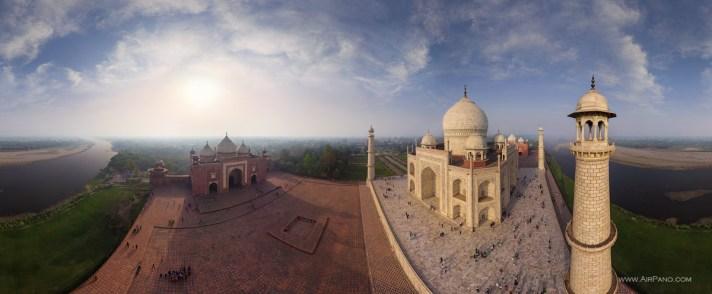 The Taj Mahal in India by AirPano