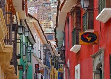 Calle Jaén has been called the finest colonial street in La Paz, the cobbled street of brightly coloured buildings dotted with charming museums, shops, bars and restaurants. Photo credit: syssy70