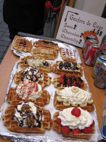 Belgum waffles from trips around the world