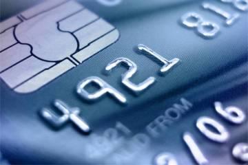 Smart Chip Credit Card - Blue