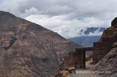 Gate to the Pisac Sun Temple in the Sacred Valley, Peru from trips around the world
