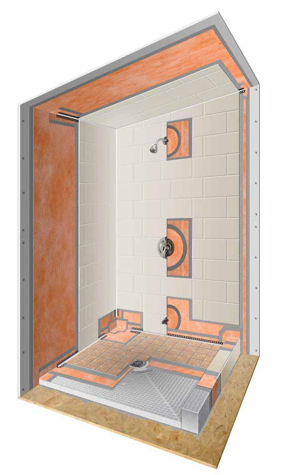 build problem free tiled showers on