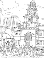 Philadelphia Skyline Coloring Pages
