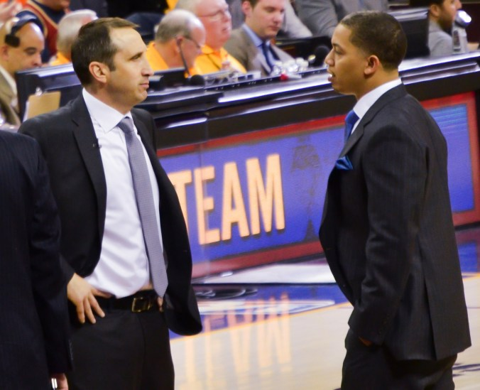 The Eastern Conference-leading Cleveland Cavaliers made the shocking decision last week to fire their head coach David Blatt (left) and replace him with assistant Tyronn Lue (right). (Erik Drost/Flickr)
