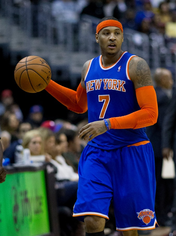 Will tension between Carmelo Anthony and the Knicks grow if the franchise continues its losing ways? (Keith Allison/Flickr)