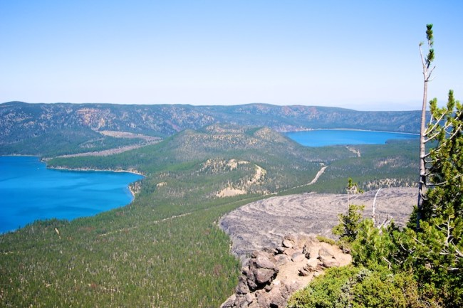 Paulina Peak, Paulina and East Lakes