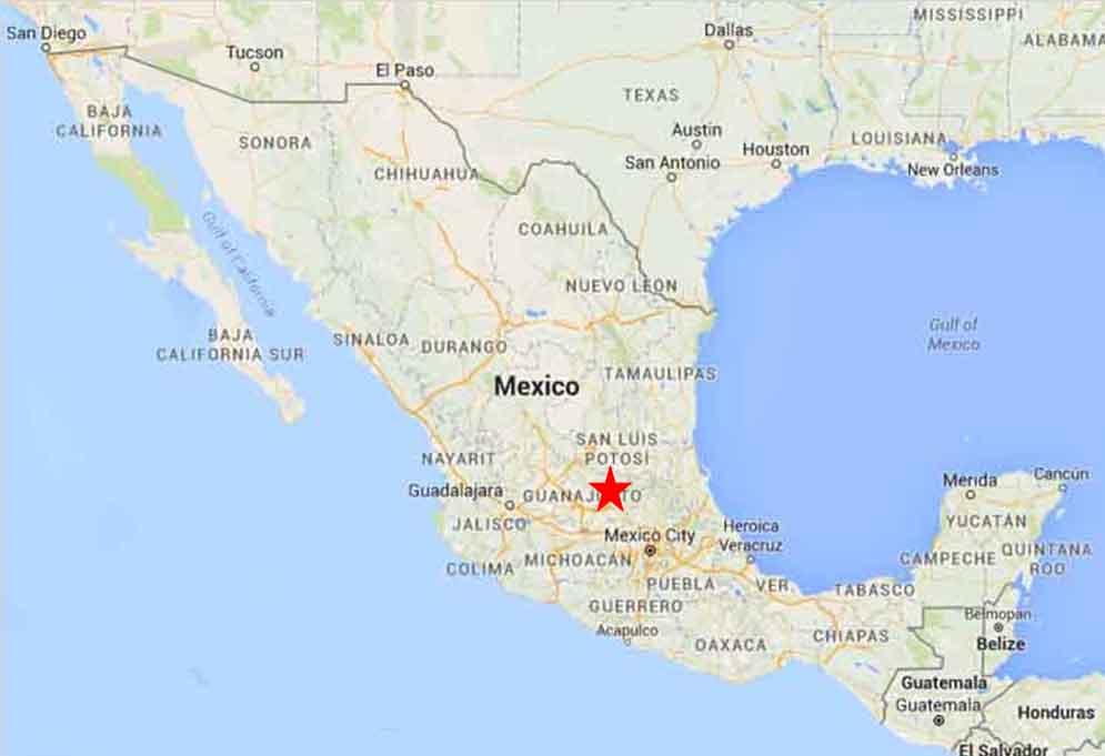 san miguel de allende guanajuato mexico map San Miguel De Allende Guanajuato