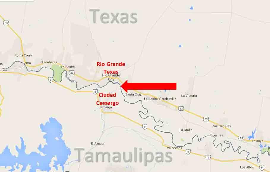 Map Of Texas Mexico Border Towns.Rio Grande City Texas Ciudad Camargo Tamaulipas Border Crossing