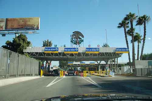 Otay Mesa California  Tijuana Baja California Border