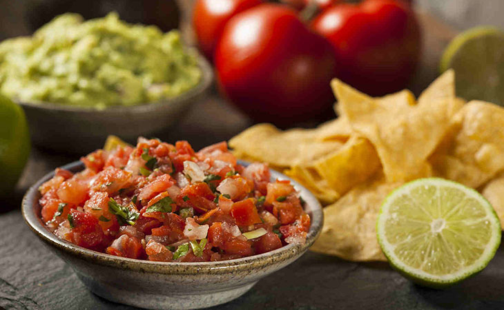 Healthy Salsa and Chips