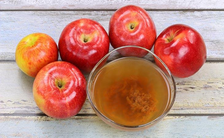 Apples And Apple Cider Vinegar on Bowl