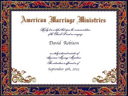 David Robison Ordination