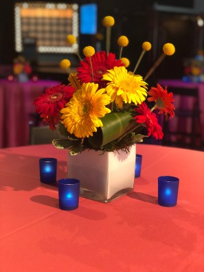 centerpieces at corporate event