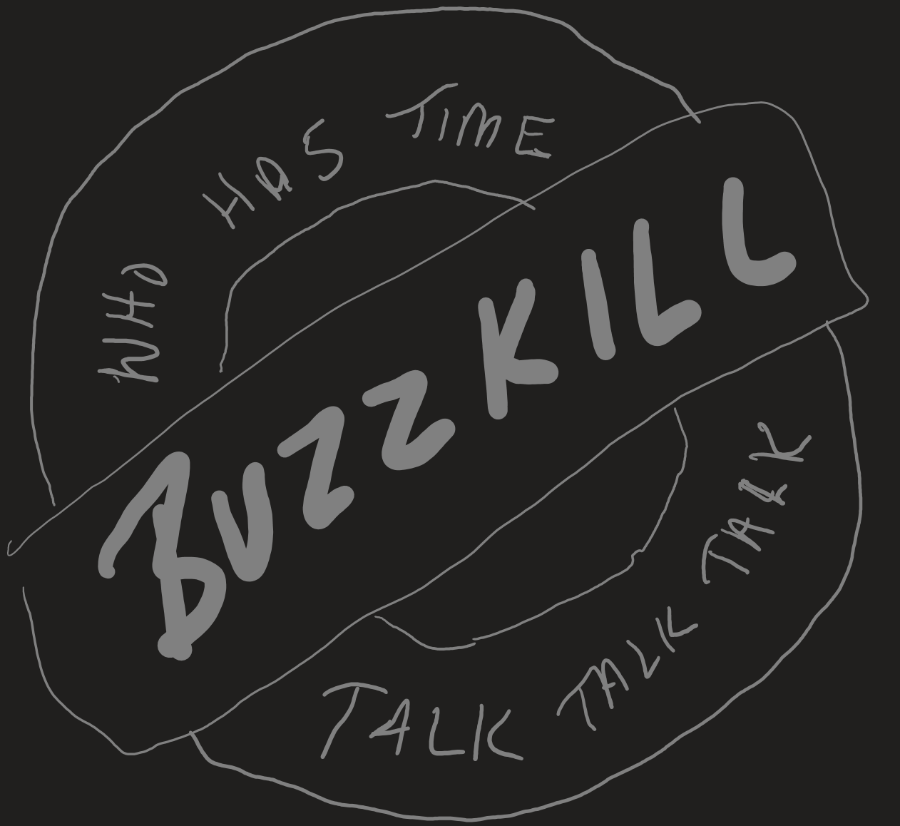 Buzzkill Podcast - Who has time? Talk Talk Talk!