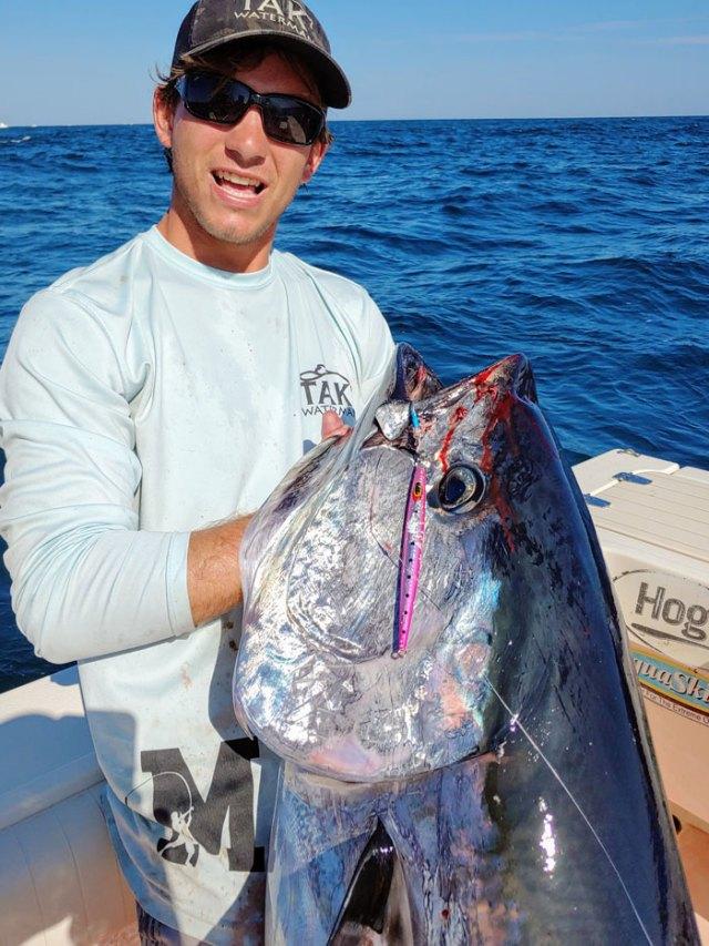 Tommy Freda with a big bluefin