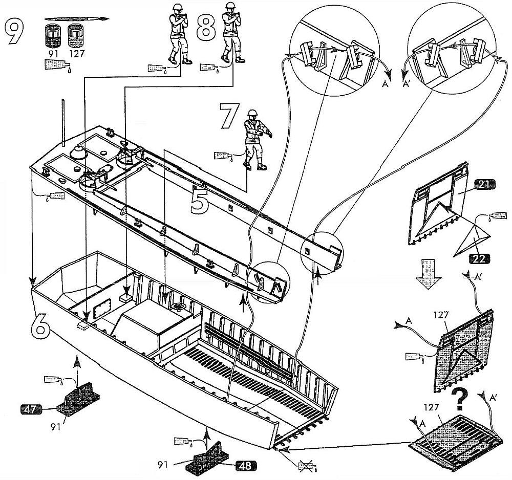 Heller, LCVP Landing Craft Vehicle and Personnel, Kit No