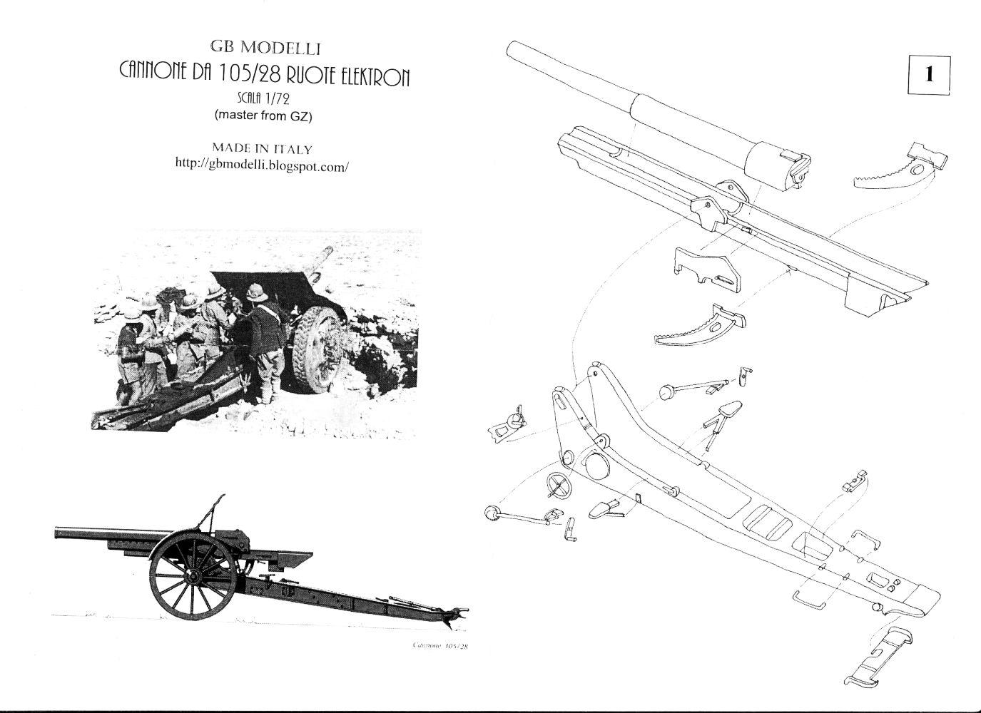 Briga Gb Modelli Cannone Da 105 28 Ruote Elektron Kit No