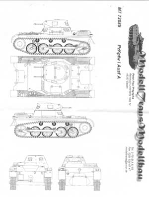 Modell Trans Modellbau Pz.Kpfw.I Ausf.A