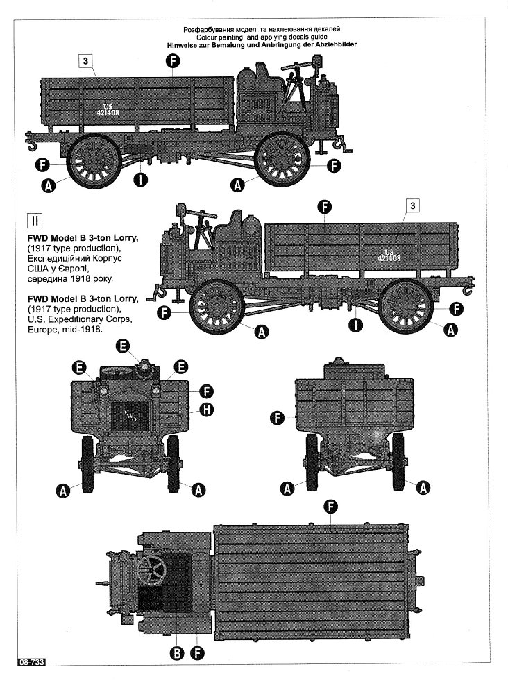 Roden, FWD Model B 3-ton lorry 1917 type production, Kit