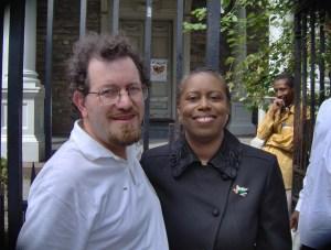 Ian Wilder and Prez Candidate Cynthia McKinney.