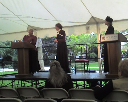 Frances Watkins Harper, Susan B. Anthony and Victoria Woodhull at the Hofstra pre-debate activities
