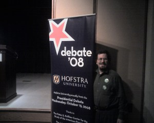 Ian Wilder at Hofstra Presidential Debate Screening