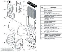Honeywell HE265 Humidifier Parts