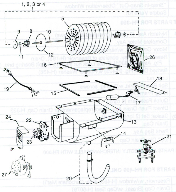 Humid-Aire FH-1000 Humidifier Parts